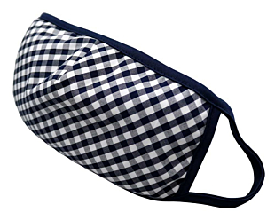 NAVY AND WHITE CHECKERS ansiktsmask