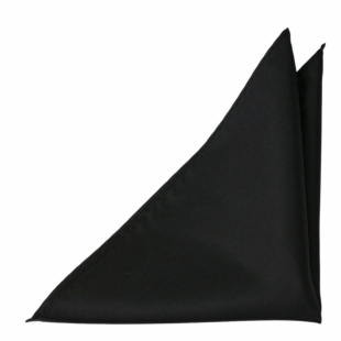 SOLID Black lommetørkle