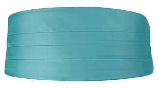 SOLID Turquoise magebelte