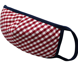 RED AND WHITE CHECKERS ansiktsmask