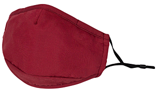 SOLID DARK RED face mask